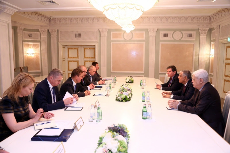 Working meeting between Alexey Miller and Jabbar al-Luaibi, Minister ofOil ofRepublic ofIraq, inSt. Petersburg