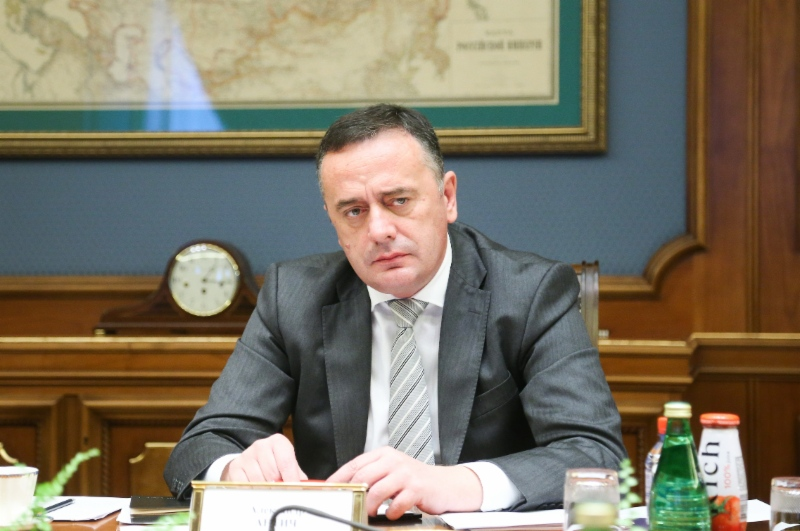 Aleksandar Antic, Minister ofMining and Energy ofthe Republic ofSerbia atworking meeting with Alexey Miller